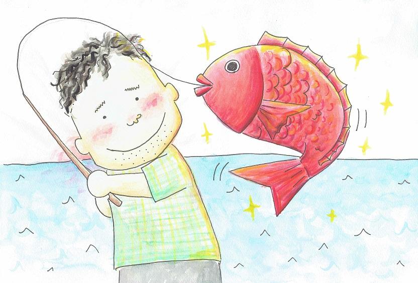 釣りが趣味のイイモリ先生